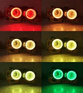 Image 4 - Kit de luces LED RGB para Chevrolet AVEO, mando a distancia por Bluetooth, multicolor, Ultra brillante, Ojos de Ángel