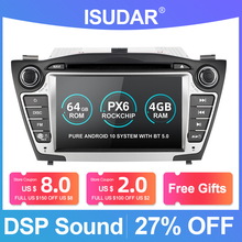 Isudar PX6 2 Din Android 10 Car Multimedia Player GPS For Hyundai/IX35/TUCSON 2009 2015 Canbus Auto Radio USB DVR DVD Player DSP