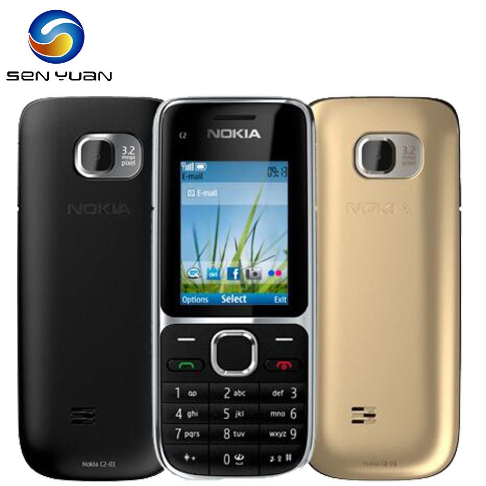 Nokia C2-01 Original Unlocked GSM Refurbished Hebrew Keyboard Russian Bluetooth 3g Phone title=