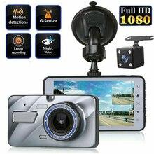 Full HD 1080P Автомобильный видеорегистратор Камера авто 4,3 дюймов зеркало заднего вида цифровой видеорегистратор двойной объектив регистратор видеокамера