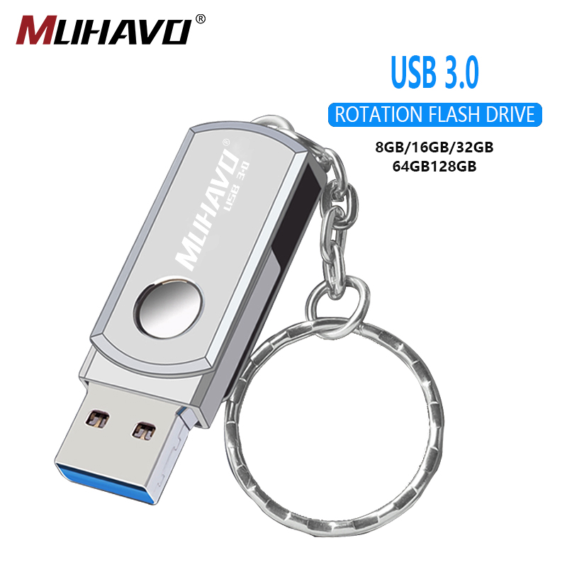 High Speed Usb Flash Drive 3.0 128gb Metal Pen Drive 3.0 64gb Usb Flash 32gb Rotatable Pendrive 16gb 8gb Flash Drive Pen Memory