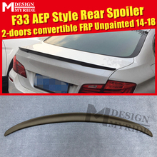 F33 Spoiler FRP Unpainted Tail Wing For BMW 4-Series 420i 428i 430i  2-Door Convertible AEP Style Black 2014-18