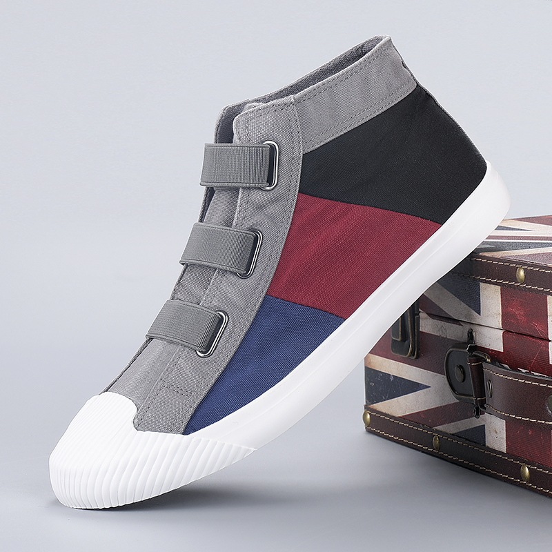 2020 Spring New Hot Fashion High Top Men Colorful Canvas Shoes Outdoor Breathable Light High Footwear Cloth Casual Sneakers