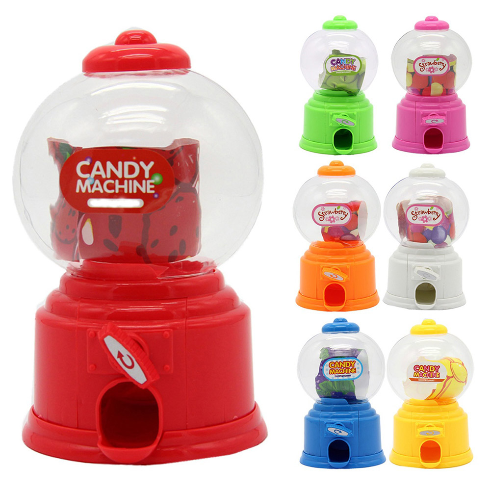 Cute Sweet Mini Candy Machine Kids Bubble Gift Children Bank Toys Dispenser Coin