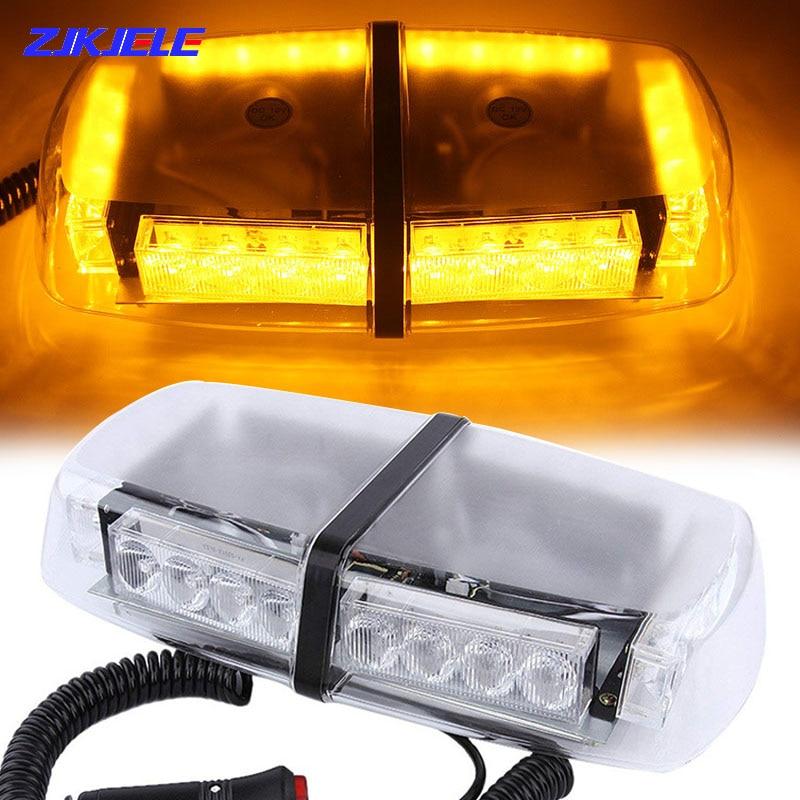 24 LED Car Roof Magnetic Celling Strobe Police Flashing Emergency Warning Lightbar Safety Alarm Lamp Beacon for Vehicles Trucks