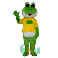 2019 Hot Frog Prince Mascot Costume Cosplay Halloween Party Fancy Dress Adult us High Quality Cartoon Character Unisex Clothing