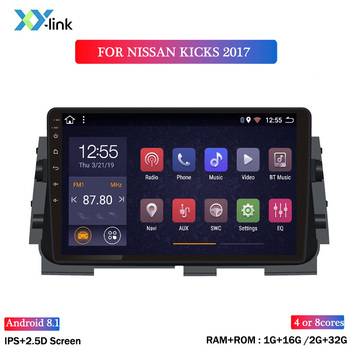 hot sale 10.1 inch screen Android 8.1 car dvd gps navigation For Nissan kicks 2017 car multimedia player radio stereo no 2 din image