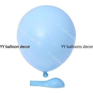 """Image 4 - 84 sztuk/zestaw zestaw balonowy Garland Arch 5 """" 18"""" Sliver biały niebieski balony na urodziny prysznice dla dzieci przyjęcie weselne dekoracje"""