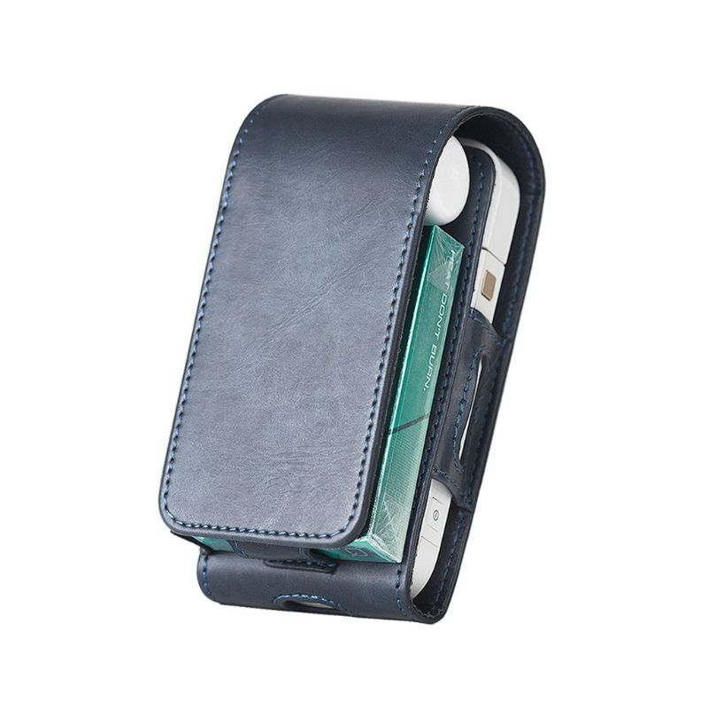Portable PU Leather Bag For IQOS For IQOS 2.4 Plus III Universal Pouch Black Blue Color Case