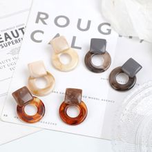2020 Vintage Clear Resin Geometric Statement Dangle Drop Earrings for Women Round Acrylic Earrings Fashion Party Holiday Jewelry golden statement earrings 2018 ball geometric earrings for women round dangle earrings drop modern art fashion party jewelry