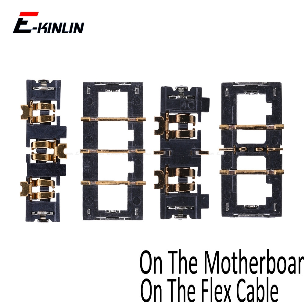 2PCS Inner FPC Connector Battery Holder Clip Contact For IPhone 5 5S SE 5C 6 6S Plus On Motherboard Logic Main Board Flex Cable