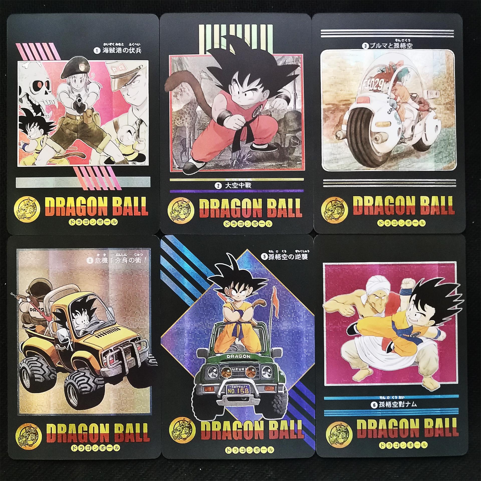 42pcs/set Super Dragon Ball Heroes Battle Card Ultra Instinct Goku Vegeta Dragon Ball Super Game Collection Golden Flash Cards