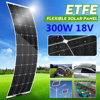 18V Semi flexible Solar Panel 300W Monocrystalline Solar Cell DIY Module Cable Outdoor Connector Battery Charger Waterproof