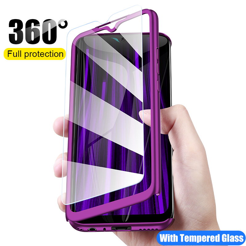360 Full Protective Phone Case For Xiaomi Redmi Note 8T 8 7 6 5 K20 K30 Pro Case For Redmi 8A 7A 6A 5 Plus With Screen Protector
