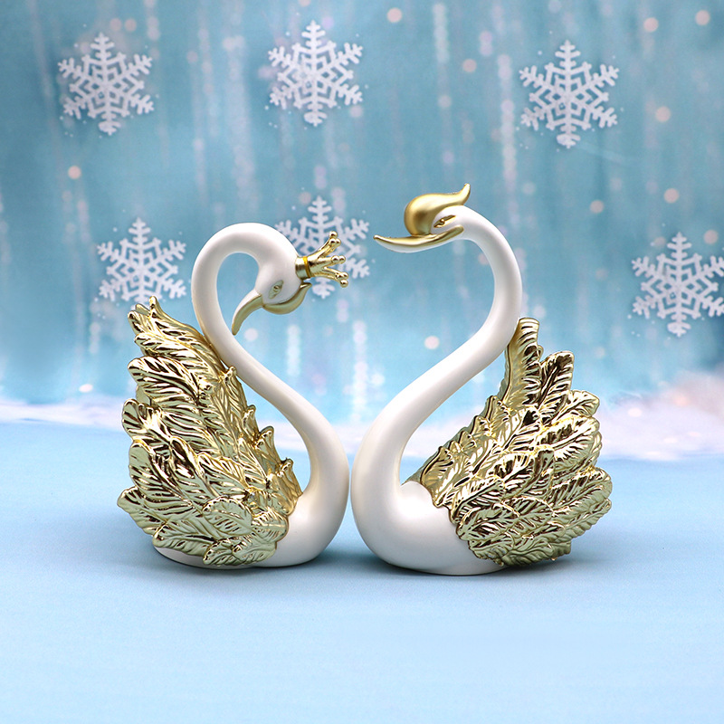 Valentine's Day Beautiful Swan Cake Decoration Swan Decoration Decoration Dessert Baking Birthday Cake Decoration