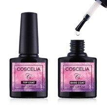 COSCELIA 1pc 8ml Base and Top Coat Gel Nail Polish UV Gel Transparent Soak Off Primer Gel Polish Gel  Nail Art Manicure mustela gel lavant doux