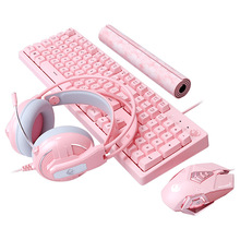Gaming Combos 19 Keys No Punch Wired USB Keyboard 4800DPI Macros Programming Mouse Noise Reduction Headset