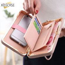 KISSCASE Leather Wallet Case Phone Bag For iPhone 11 Pro 11 for Huawei Elegant Bow-Knot Card Slots Retro Phone Pouch for Xiaomi(China)