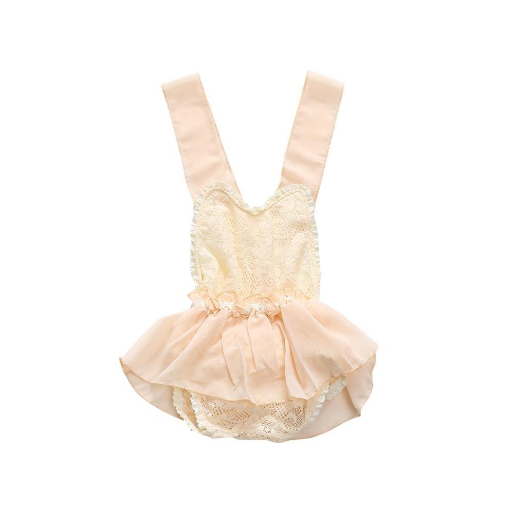 0-24M Menina Macacão Verão Bodysuit Infantil Rendas Princesa Romper Do Bebê Recém-nascido Do Bebê Batismo Batismo Vestido de Festa de Casamento vestido