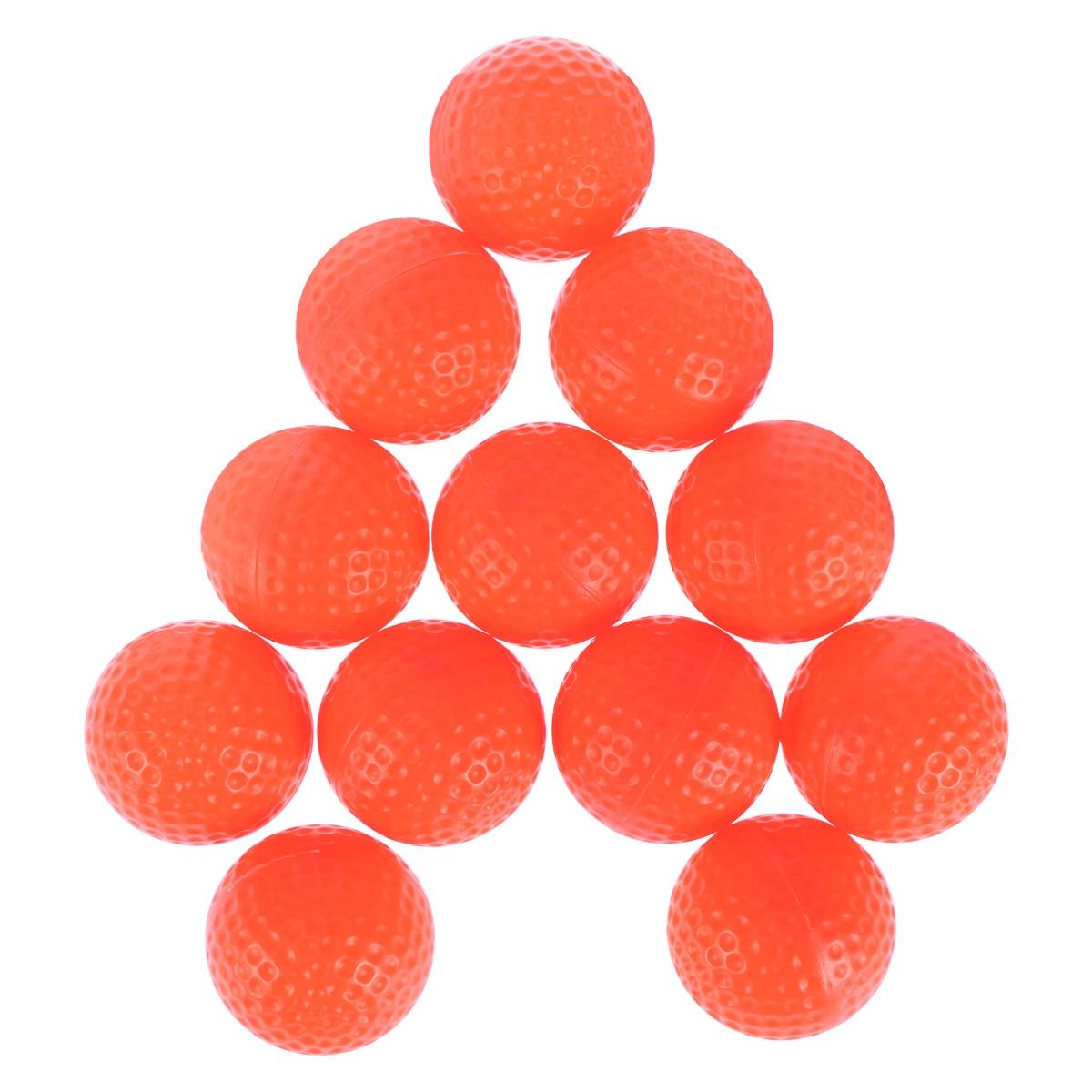 12pcs Practical Exercise Field Balls Indoor Practice Training Aids PU Foam Golf Balls For Practical