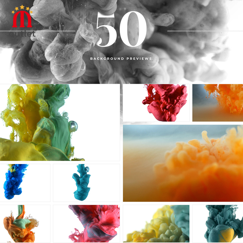 MotionVFX Mbackground Ink 50 Microscopic Close-up Color Ink And Water Dissolved Fluid Background Special Effects Animation