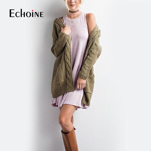 秋冬ファッション女性長袖ルーズニットカーディガンセーター2019ピンク黒女性ニット女性カーディガンプルファム