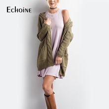 Autumn Winter Fashion Women Long Sleeve Loose Knitting Cardigan Sweater 2019 Pink black Women Knitted Female Cardigan Pull Femme