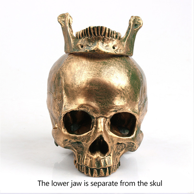 P-Flame  Resin Skull Model Halloween Decoration Painting Medicine Makeup Props Model Sculpture Statue Crafts Home decoration 3
