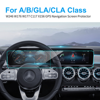 Car GPS Navigation Screen Protector for Mercedes W246 W176 W177 C117 X156 A B GLA CLA Class Car Screen Protect Film Accessories image