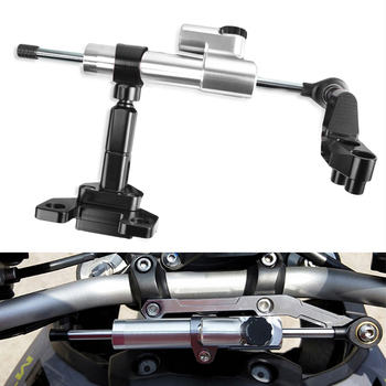 Motorcycle Steering Stabilizer Damper With Bracket Linear Reversed Safety Control FOR YAMAHA YZFR3 YZFR25 2014 2015 2016 2017