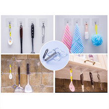 1/5/10 Pcs Strong Home Kitchen Hooks Transparent Suction Cup Sucker Wall Hooks Hanger For Kitchen Bathroom Wholesale Price 8.26