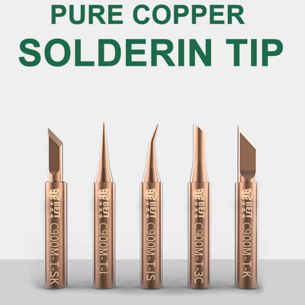 5 In 1 Soldering Iron Tips Welding Nozzle Oxygen-free Copper Lead-free Solder Non-stick Tin Tip DIY Tools Set For Horns Plastic