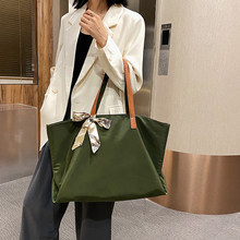 Bow Scarves High Capacity Tote Bags For Women 2020 New Quality Women's Handbag Casual Solid Color Women Shoulder Bag Big Shopper(China)