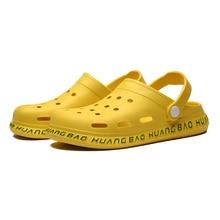 2020 New Summer Crocs Shoes Man Beach Sandals Crocks Man Shoes Couple Black Blue