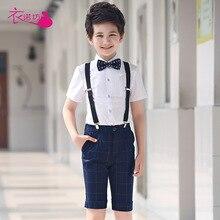 Suits Pant-Set Boys-Sets Shirt Tops Waistcoat Tie Clear Gentleman Leisure Baby-Boys Kids