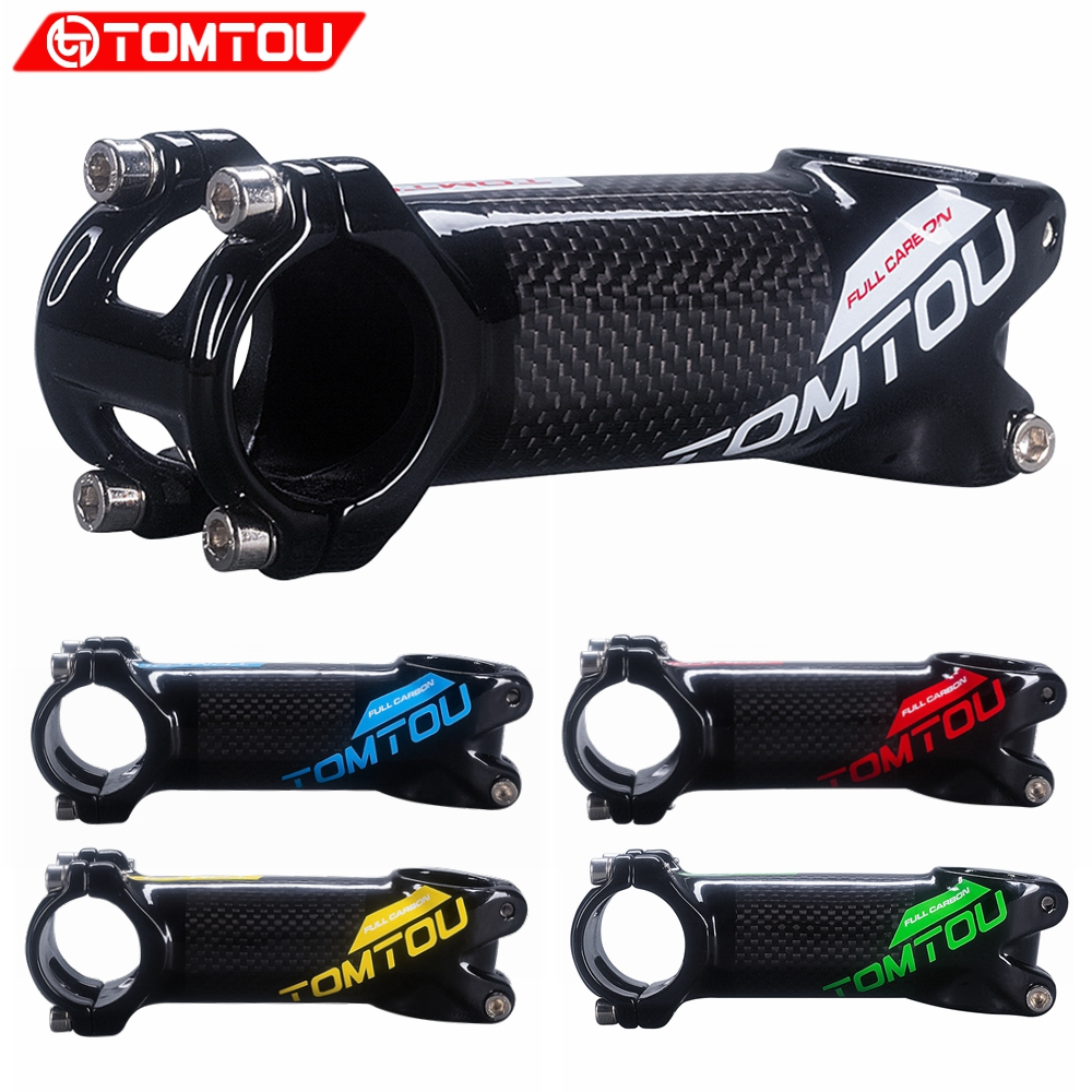 TOMTOU Aluminum & Carbon MTB Bike Stem For Mountain Road Bicycle Parts 31.8mm Length 60/70/80/90/100/110/120mm|Bicycle Stem| |  - title=