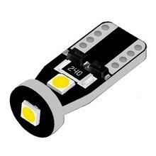 مصباح سيارة LED ، مصباح قراءة ، مصباح لوحة ترخيص ، لمبة جانبية ، LED ، T10 ، 3 SMD 100 ، W5W ، 100X ، 3030 قطعة