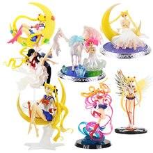 Super Sailor moon anime marinero Marte mercurio Júpiter Venus PVC figura de acción juguetes de modelos coleccionables