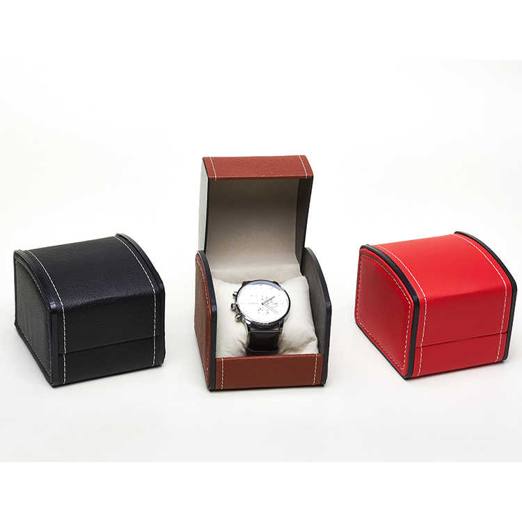 فو الجلود ساعة مربعة صندوق ساعة مجوهرات صندوق عرض هدية صندوق مع وسادة وسادة ساعة صندوق تخزين ساعة معصم حماية