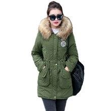 New Long Parkas Women Winter Jacket Coat Hooded Thick Cotton Warm Jacket Womens
