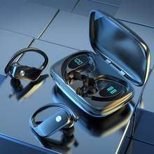 3500 мА/ч зарядная коробка беспроводные Bluetooth 5,1 наушники спортивные водонепроницаемые наушники светодиодный дисплей шумоподавление гарниту...