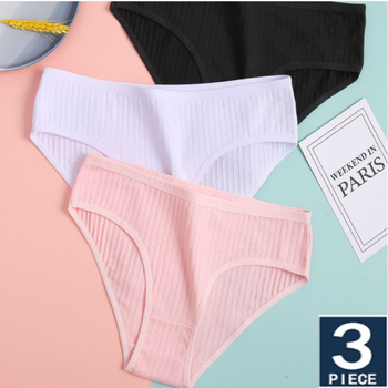 Women Panties Soft Cotton Panties Solid Briefs Striped Panty Sexy Lingerie Female Underwear Panty трусы женские panty