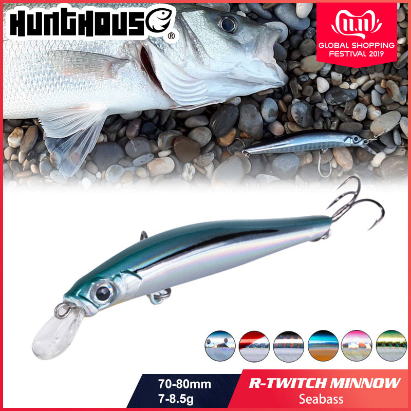 Hunthouse artist minnow sea fishing lure hard bait sinking lure minnow 70mm 7g 80mm 8.5g silence for sea bass
