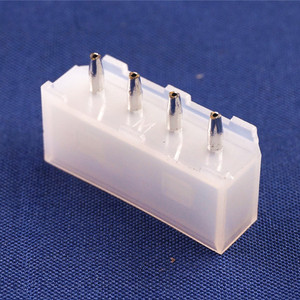 Image 5 - 100 pcs 5.08 mm 4 Pin D Shape Wafer Male Contact Pin Vertical PCB Solder 8981 IDE 4 Pin D ATX / EPS Power Connector