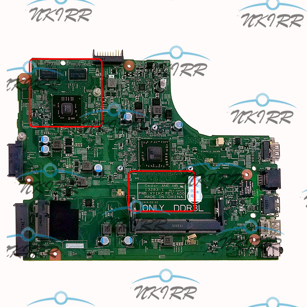 Cedar AMD MB 13283-1 PWB:XY1KC REV:A00 52GNY 052GNY Radeon R5 E2-6110 DDR3L Motherboard For Dell Inspiron 15 3542 3541 3441