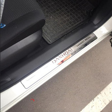 Car Accessories For Nissan Qashqai Door Sill J11 Scuff Plate Stainless Steel Door Sills Pedal Car Styling Sticker 2015 2017 2019 car stainless steel door sills scuff plate fit for 2017 hyundai solaris hatchback sedan dual tone door sills
