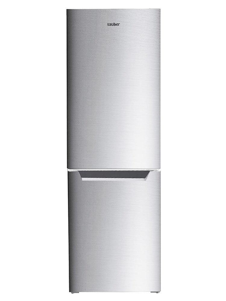 Refrigerator Combi Sauber Sc186I Total Nofrost A + High 185 Cm Wide 60 Cm Inox
