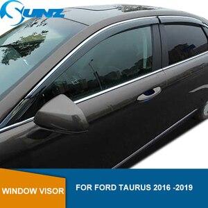 Image 1 - Side Window Deflector For Ford Taurus 2016 2017 2018 2019 Window Visor Vent Shades Sun Rain Deflector Guard SUNZ
