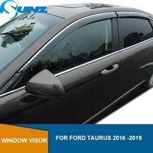 Yan pencere saptırıcı Ford Taurus için 2016 2017 2018 2019 pencere Visor havalandırma tonları güneş yağmur deflektör bekçi SUNZ