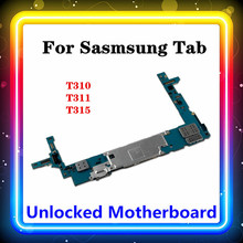 Carte mère dorigine bien testé pour Samsung Galaxy Tab 3 8.0 T310 T311 T315 carte mère avec carte mère à puces complètes livraison gratuite